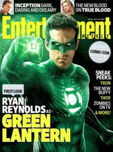 Ryan Reynolds as Green Lantern - EW Cover