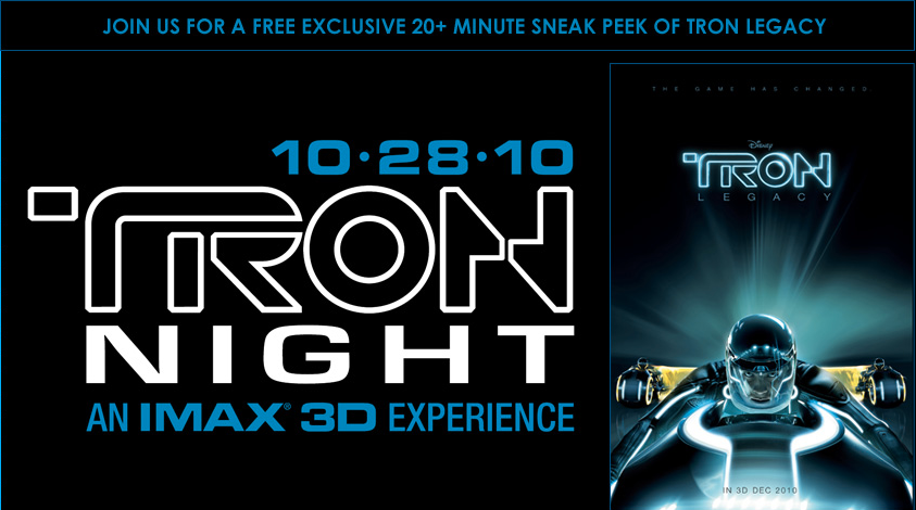 Tron-Night Tron Legacy Film 3d Preview event