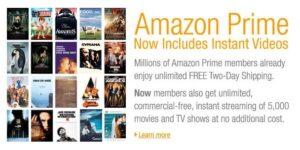 Amazon Prime Instant Video rentals online video amazon.com