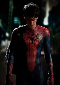 andrew garfield as amazing spider man in costume from Sony Pictures