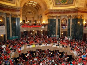 wisconsin protest republicans