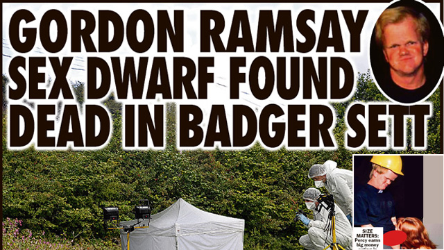 Of All The Ways To Die: Being A Gordon Ramsay Look-A-Like And Eaten By Badgers
