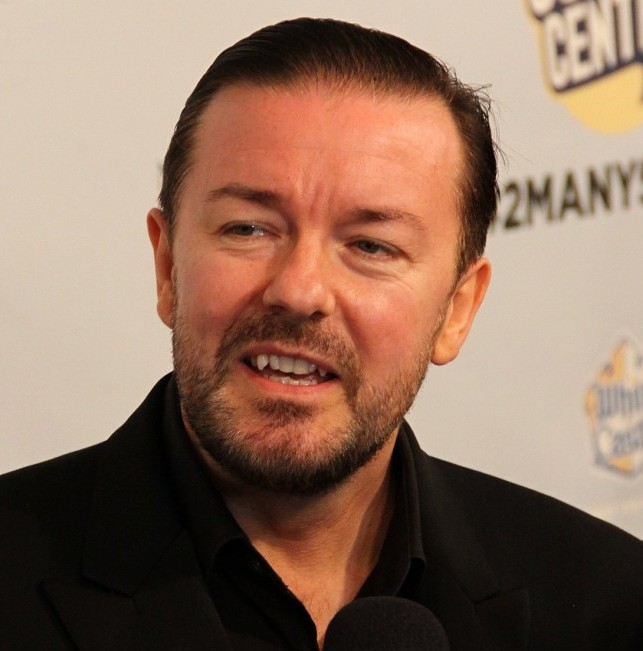 "Ricky Gervais says ""Out With the Old, In With the New"""