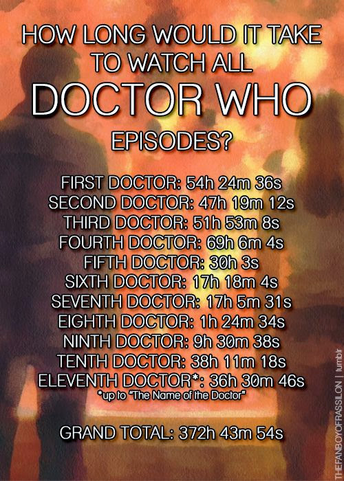 doctor who episodes running time