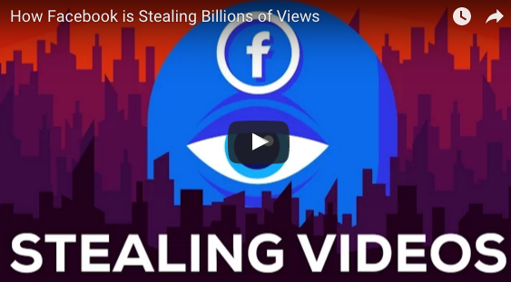 facebook steals video views crooks youtube